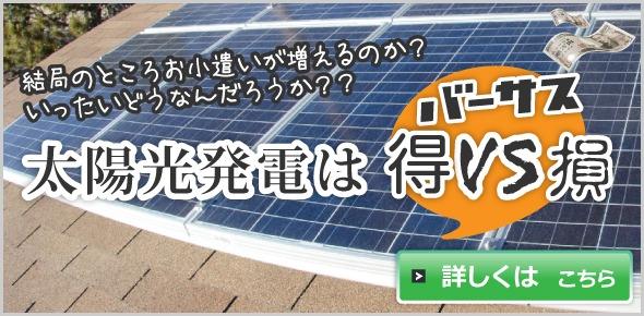 太陽光発電は 得 VS 損
